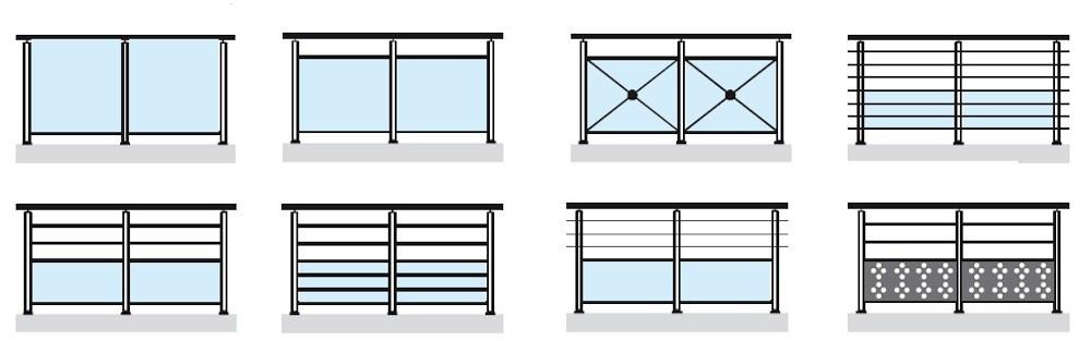Barandillas de aluminio dise o technal ventanas de for Disenos en aluminio