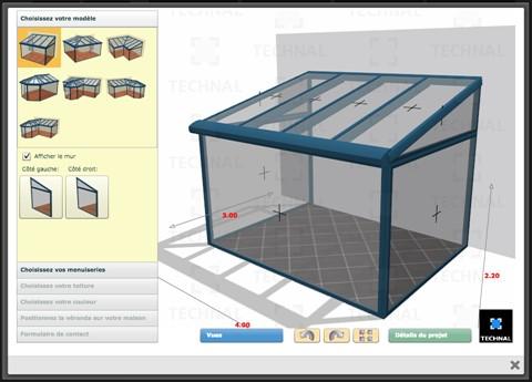 Les v randas de puigmetal technal menuiserie alu espagne for Configurateur 3d gratuit